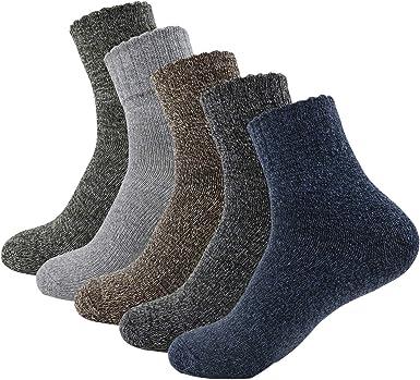 5 Pairs Men Short Socks Winter Thermal Casual Soft Cotton blend Boy Sport