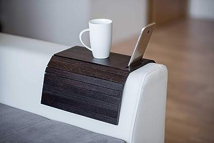 Armlehnenschoner Aus Holz Sofa Ablage Untersetzer Sofa Tablett Handyhalterung Farbe 5 Küche Haushalt