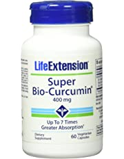 Life Extension Super Bio Curcumin 400 mg Caps, 60 ct (Pack of 2)(Packaging May Vary)