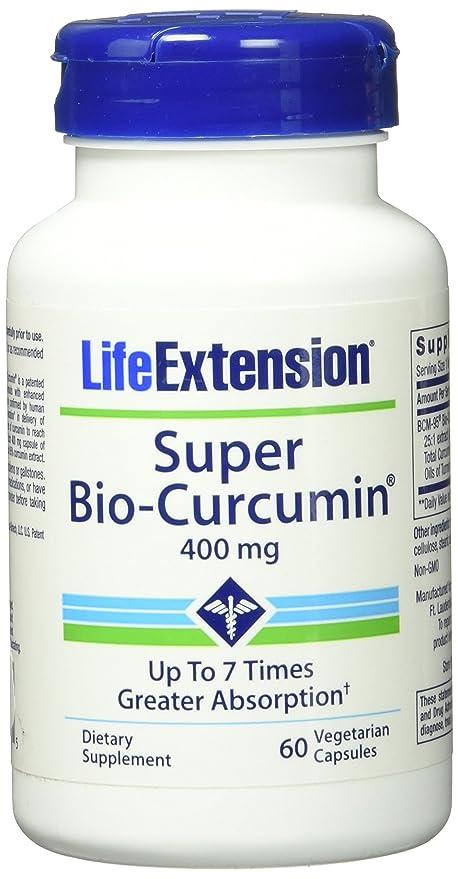 Life Extension Super Bio Curcumin 400 mg Caps, 60 ct (Pack of 2)