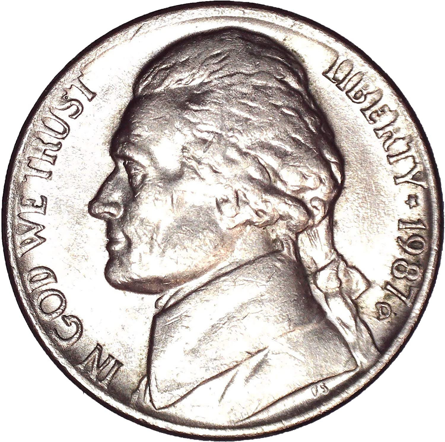 1987 Proof Jefferson Nickel Roll