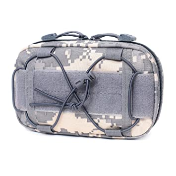Amazon.com: Tactical Molle Horizontal Admin Pouch Compact ...