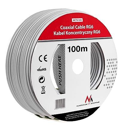 Maclean MCTV-572 SAT-Antennenkabel 100m de los cables coaxiales RG6 1.0CSS TV