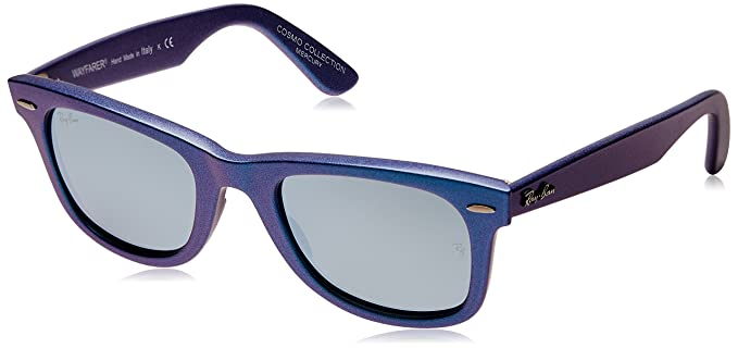 4ecdcbc533 Ray-Ban Wayfarer Sunglasses (Blue) (RB-2140-611330-50)  Amazon.in ...