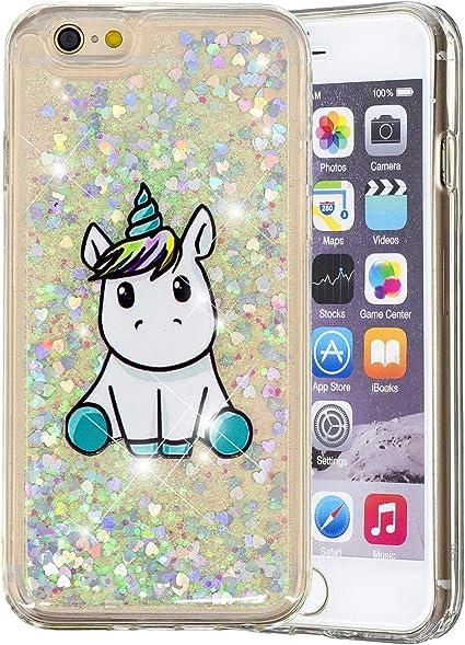 TENGMAO Funda iPhone 6/iPhone 6s Liquido Glitter, Carcasa ...
