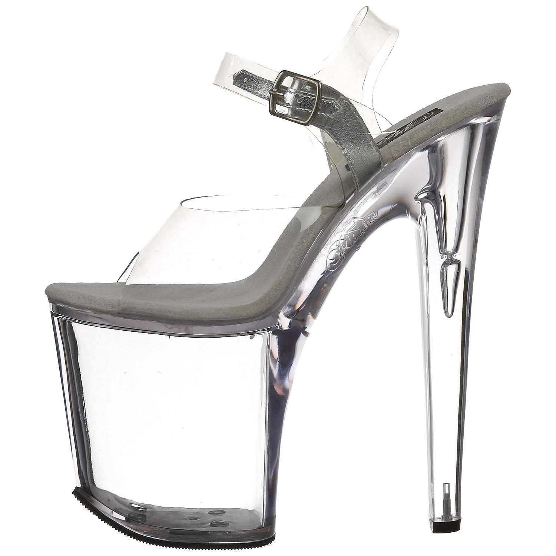 Pleaser Women's Xtreme-808C Platform Sandal B000AQFLZ8 12 B(M) US Clear