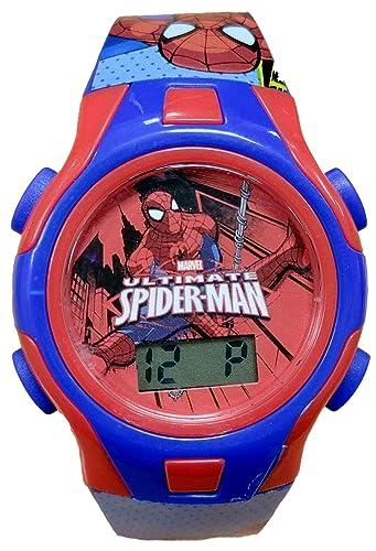 Marvel Spider-Man niños Digital reloj de pulsera en character lata 60160: Amazon.es: Relojes