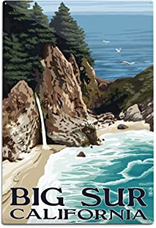 product image for Lantern Press Big Sur, California - McWay Falls 55634 (6x9 Aluminum Wall Sign, Wall Decor Ready to Hang)