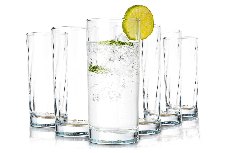 Pasabahce Istanbul Vasos de Agua / 487 ML/Conjunto de 6 / Gafas de Alta Calidad/Lavavajillas/ Vasos de Cristal