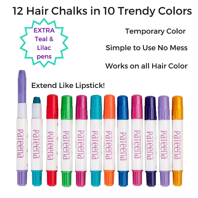 Amazon.com: Tiza para el pelo de las niñas de color temporal ...
