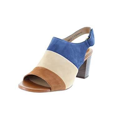 e69e77c8a2b4 Clarks Women s Ralene Shine Navy Suede Combo Sandal  Buy Online at ...