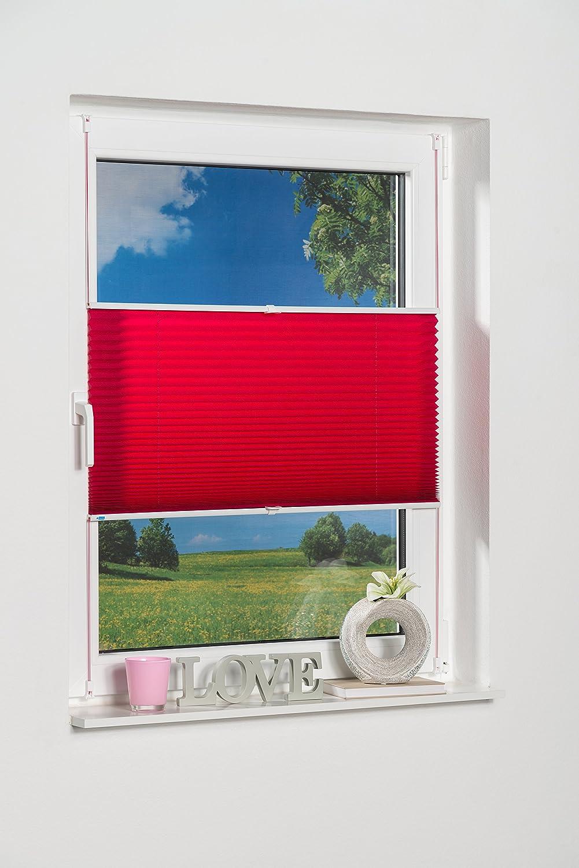 K-home 634845-3 - Tenda plissettata Klemmfix, rosa, 40 x 130 cm 634845-1
