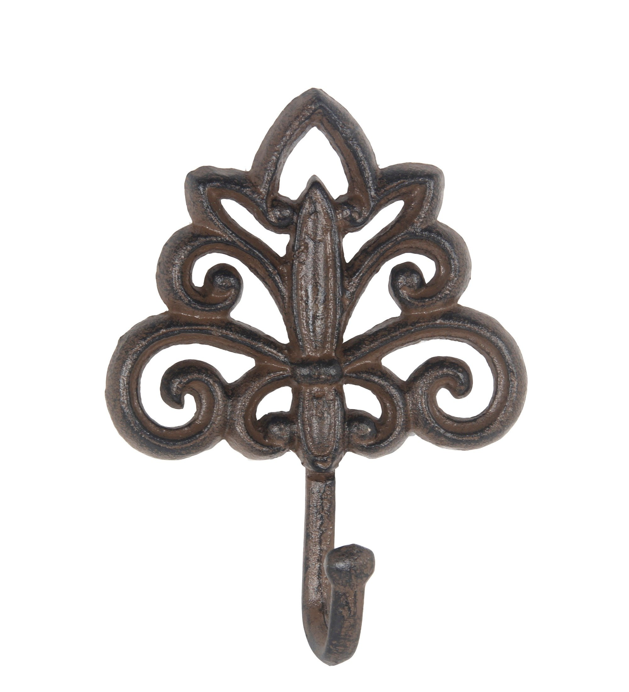 Privilege 19861 Decorative Wall Hook Rust Furniture Replacement Parts, Brown