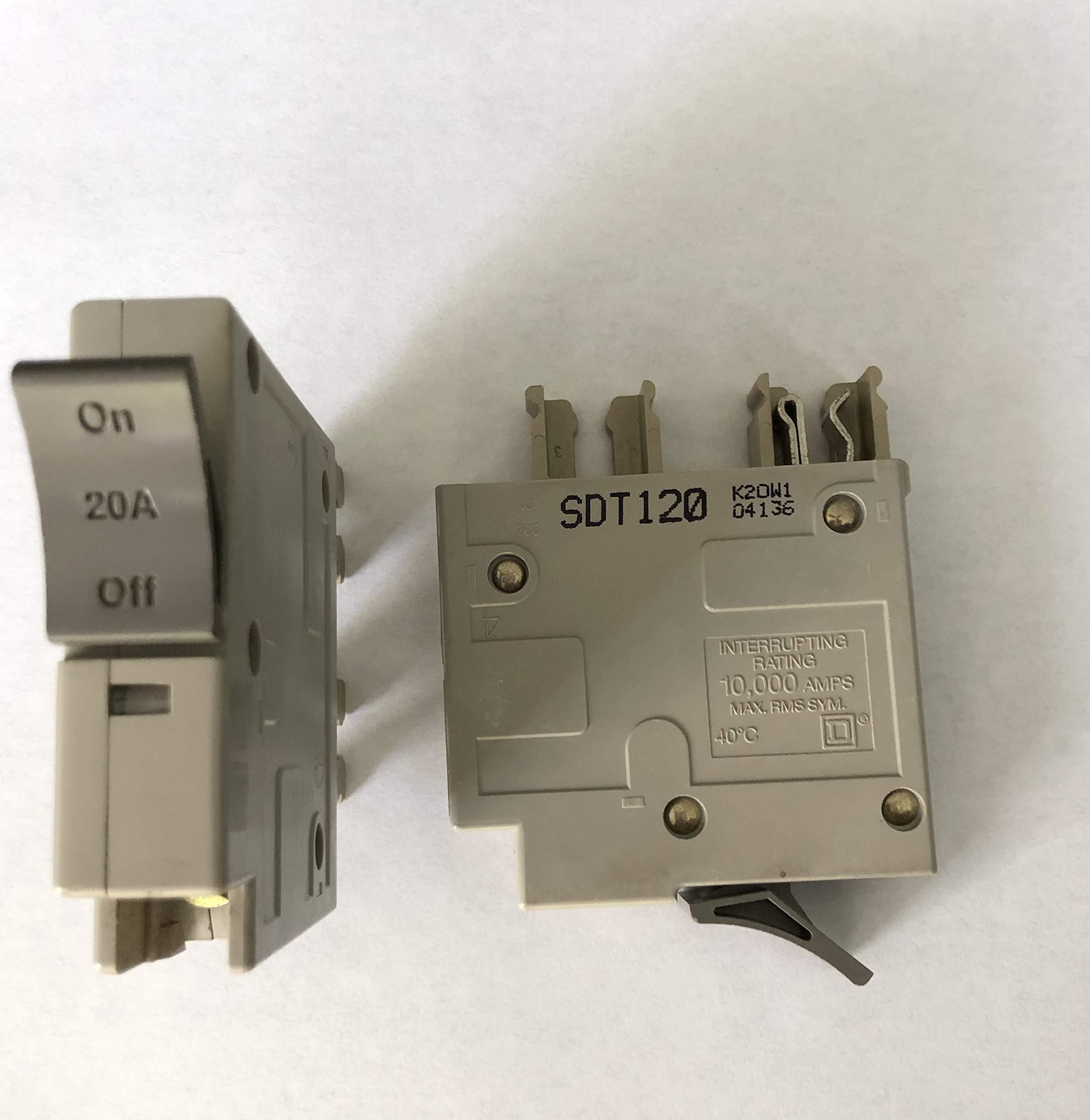 Square D Trilliant 20 amp Single Pole Circuit Breaker SDT120 by Trilliant