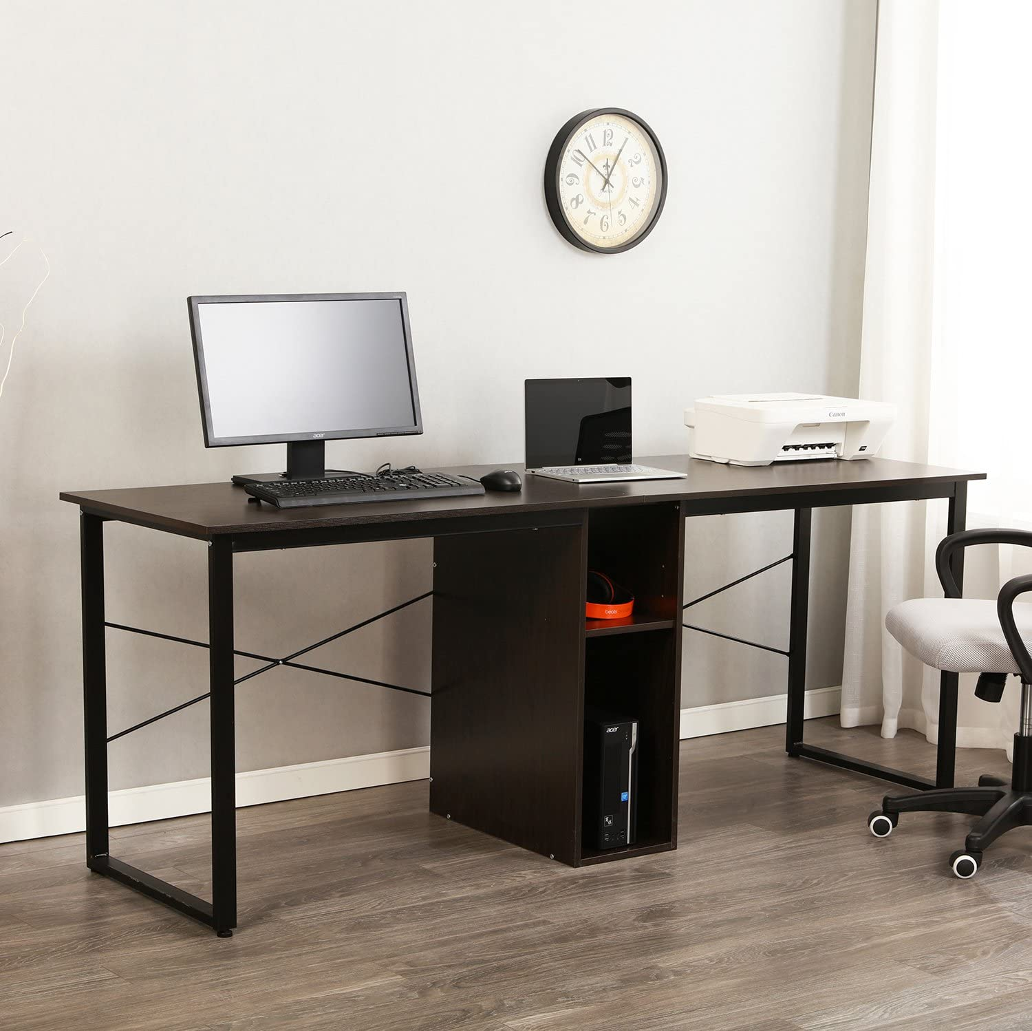 - Amazon.com: Sogesfurniture Large Double Workstation Computer Desk