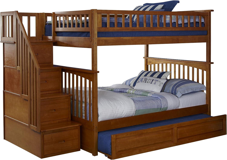 Atlantic Furniture Columbia - Cama Nido para Escalera con Cama Nido: Amazon.es: Juguetes y juegos