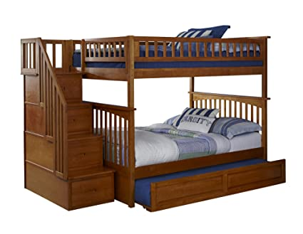 Amazon Com Atlantic Furniture Columbia Staircase Bunk Bed With