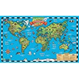 popar Kid's World Map Interactive Wall Chart with Free App