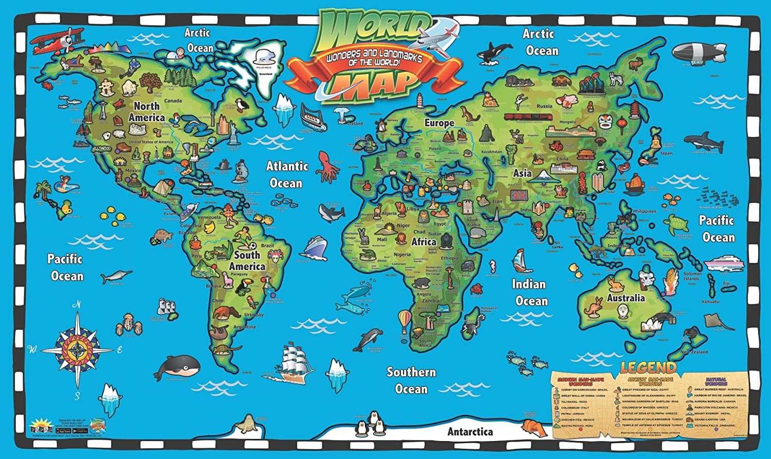 popar Kid's World Map Interactive Wall Chart with Free App on free world globe map, free world map poster, free world map wallpaper, free world atlas map,