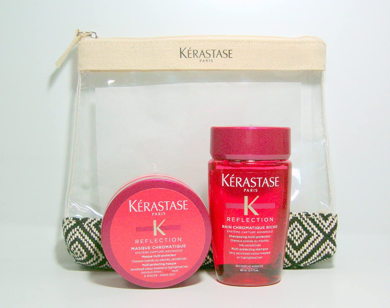 Kerastase Reflection chromatique bain 80ml masque75ml + Hommage Pochette