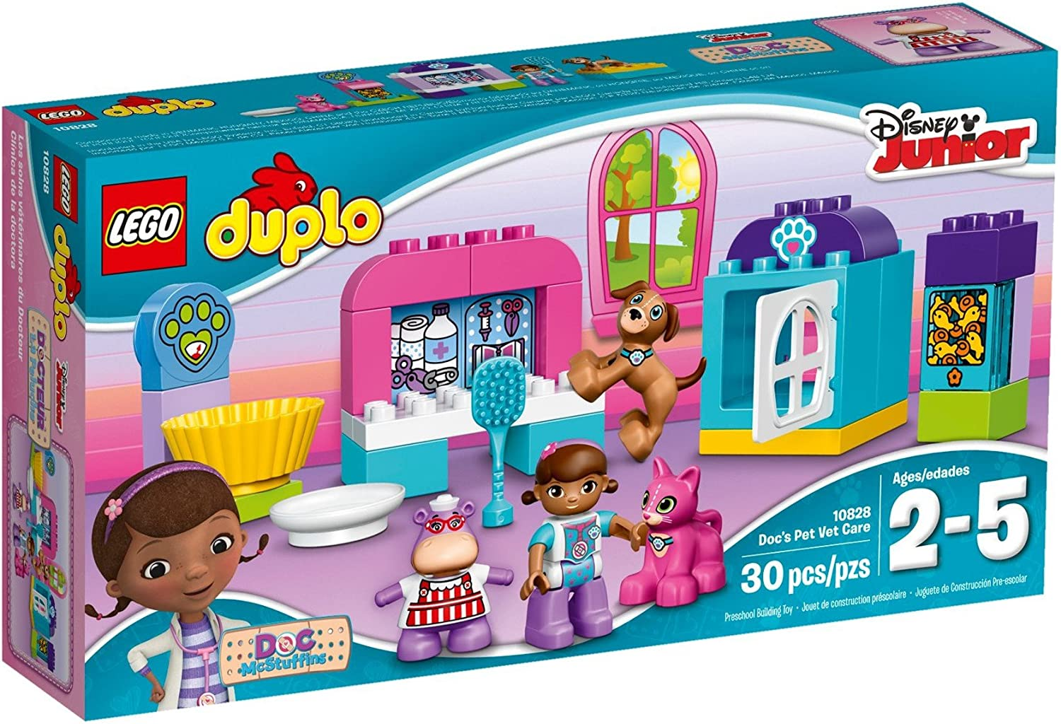 LEGO DUPLO l Disney Doc McStuffins' Pet Vet Care 10828 Learning Toy for Toddlers, Large Building Bricks
