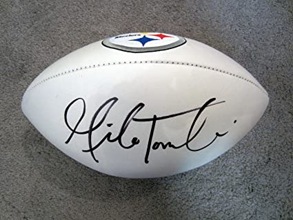 833090037 Autographed Mike Tomlin Football - Coach Logo COA New - Autographed ...
