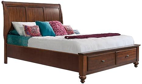 Amazon.com: Abadía Avenue Memphis Almacenamiento cama, rey ...