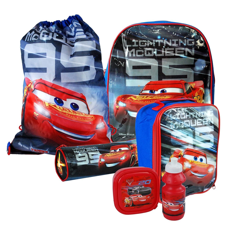 Disney Pixar® Cars 3 Back To School Sets including Backpack, Messenger, Trainer Bag, Lunch Sets, Sports Bottle & Pencil Case (3PC Lunch Set: Lunch Bag, Lunch Box & Sports Bottle)
