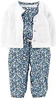 Carter's Baby Girls' 2-Piece Romper & Cardigan Set -Blue Floral