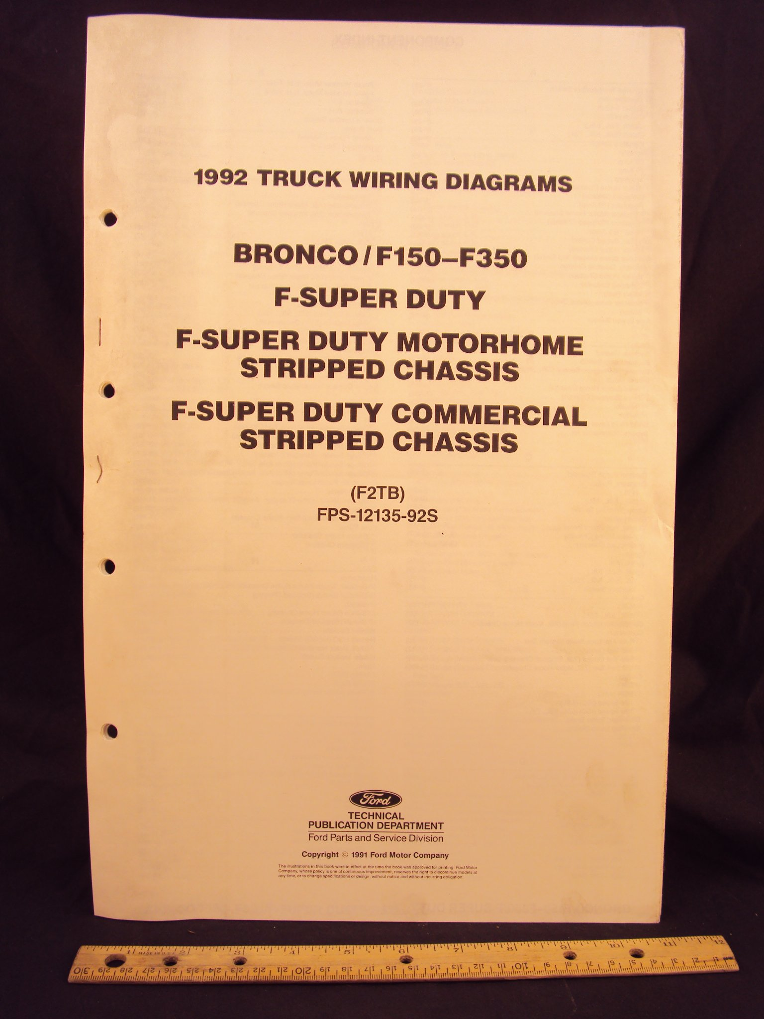 1992 FORD F-150, F250, F350 Series Truck, Bronco, F- Super ...  Ford Super Duty Wiring Diagram on