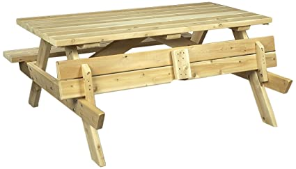 Astounding Amazon Com Cedarlooks 020021A Cedar Picnic Table Garden Creativecarmelina Interior Chair Design Creativecarmelinacom