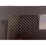 Pellicola Carbonio Nera 3D Adesivo Car Wrapping 25cm x 152cm