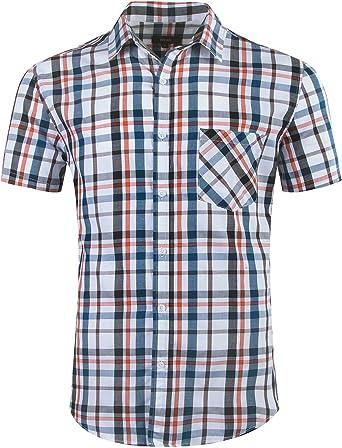 NUTEXROL Camisas de Hombre Camisa a Cuadros Camisas de Vestir, Casual, Cómodo y Moderno para Verano, de Manga Corta, Varios Estilos(Cada Estilo Tiene 6 Tallas): Amazon.es: Ropa y accesorios