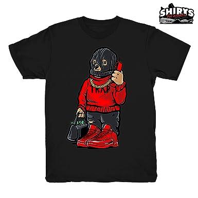 eaa1507d1bb153 Gym Red 12 Trap Bear Shirt to Match Jordan 12 Gym Sneakers Black t-Shirts