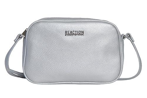 7b669f27ca Kenneth Cole Reaction POPPY MINI CROSSBODY (SILVER): Handbags: Amazon.com