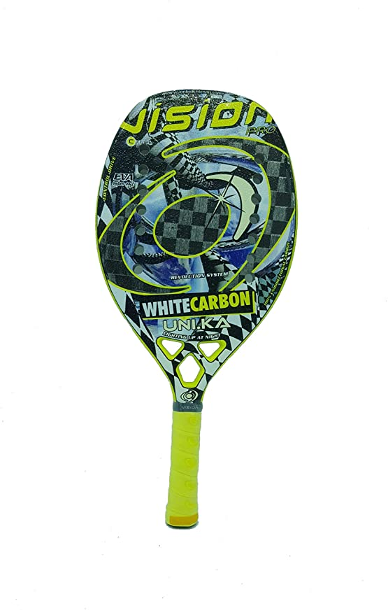 Vision Pala de Tenis Playa White Carbon UNIKA 2019: Amazon ...
