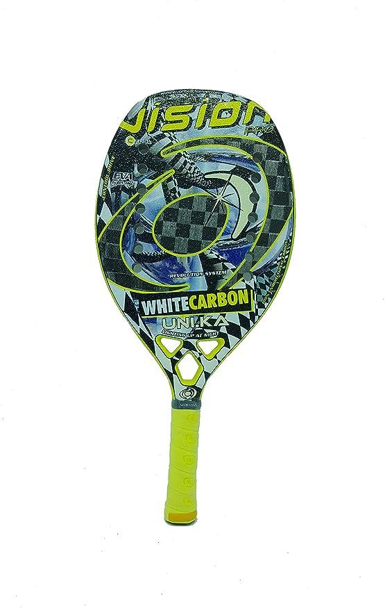 Vision Pala de Tenis Playa White Carbon UNIKA 2019: Amazon ...