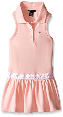 4d51ae39e Amazon.com: Tommy Hilfiger Baby-Girls Pique Knit Pink Dress with Panty,  Pink, 0-3 Months: Clothing