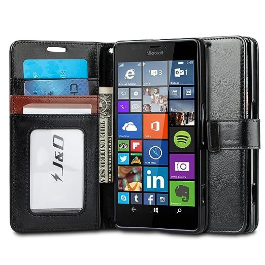14 opinioni per Custodia Lumia 950 XL, J&D [Portafoglio Stand] [Sottile Adatta] Protettiva