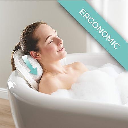 Spirity Ergonomic Bath Pillow with Neck