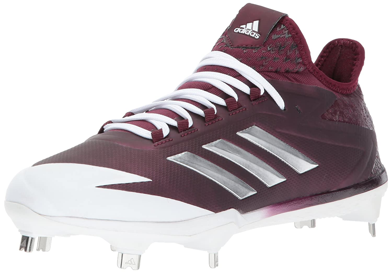 adidas Performance メンズ adizero Afterburner 4 B01N6J36H0 11.5 Medium US|Maroon/Metallic Silver/White Maroon/Metallic Silver/White 11.5 Medium US