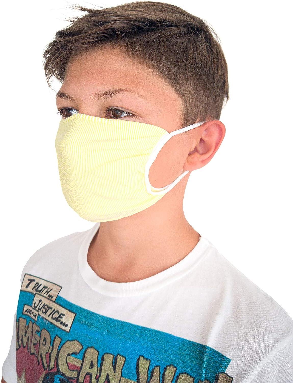 Bandes filtrants Bouche Nez Relaxsan Enfants Tissu Lavable r/éutilisable Absorbant bact/ériostatique