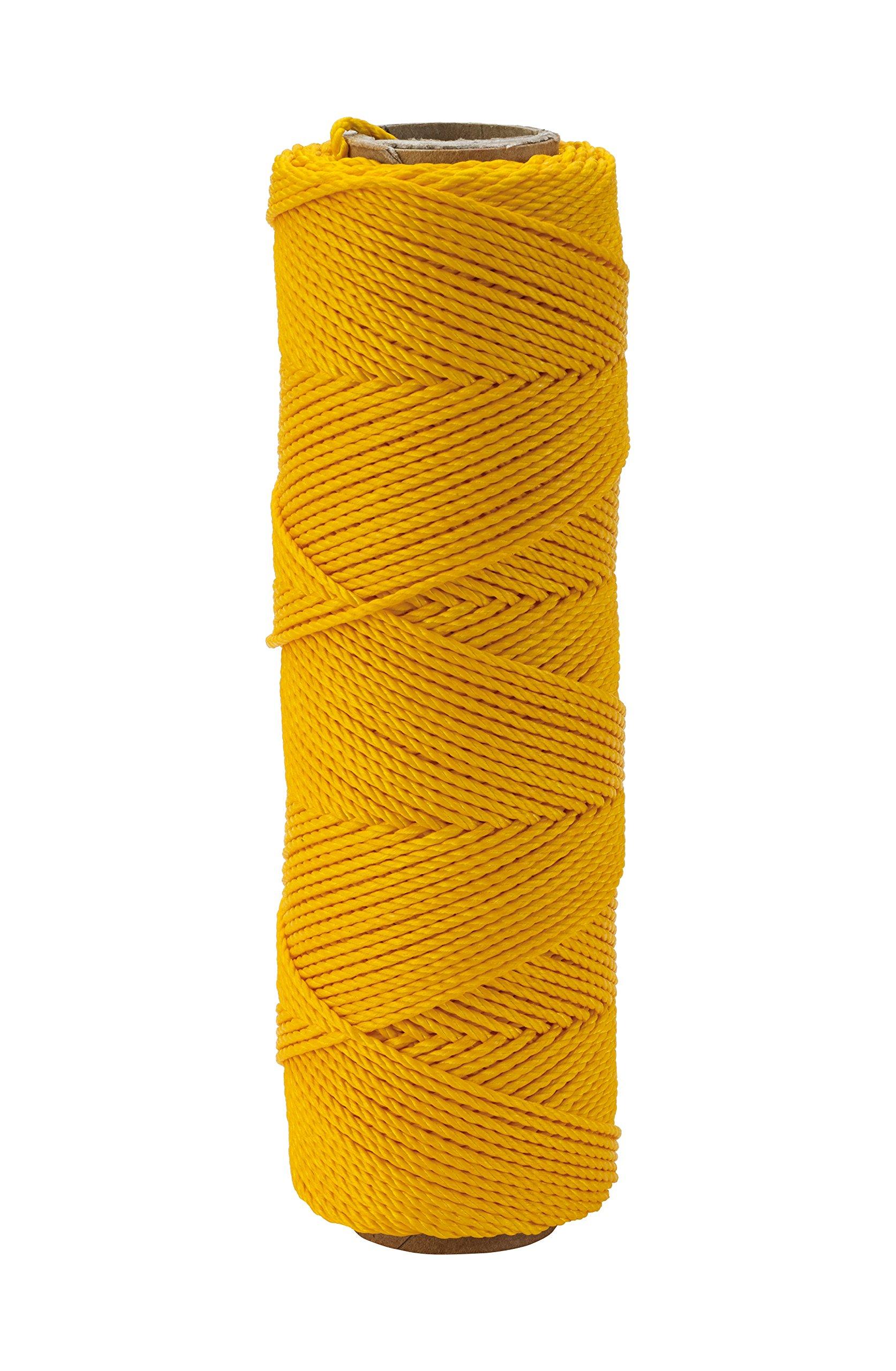 Mutual Industries 14661-41-275 Nylon Mason Twine, 1/4 lb. Twisted, 18 x 275', Yellow (Pack of 6)