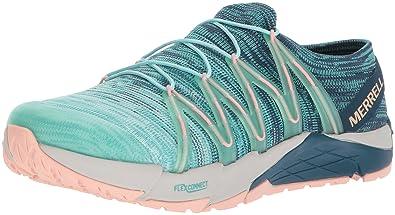 2728076c23e4 Merrell Women s Bare Access Flex Knit Sneaker Aqua 5 ...