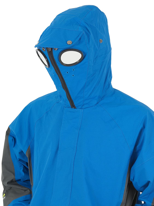 New Boys Location Blue Goggle Rain Hooded Waterproof Jacket Coat Kids Junior