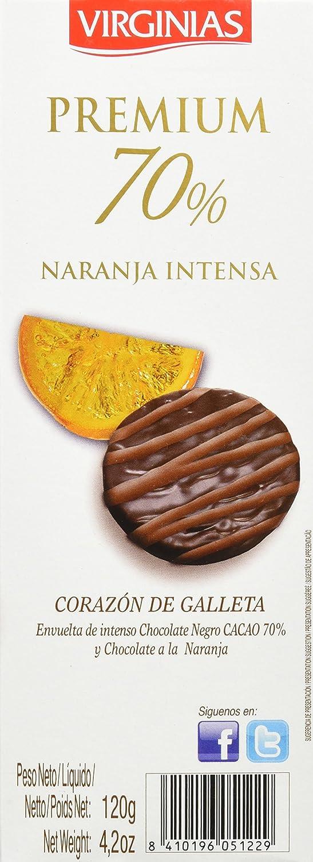 Virginias - Galleta Premium 70% Cacao A La Naranja 120 g - , Pack de 6: Amazon.es: Alimentación y bebidas