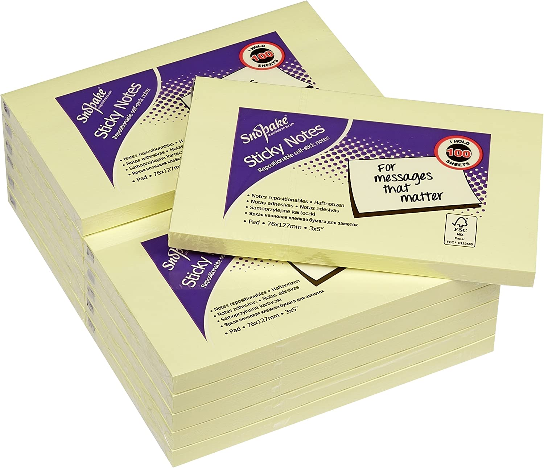 Amazon.com: Snopake notas adhesivas (12 unidades, 100 hojas ...