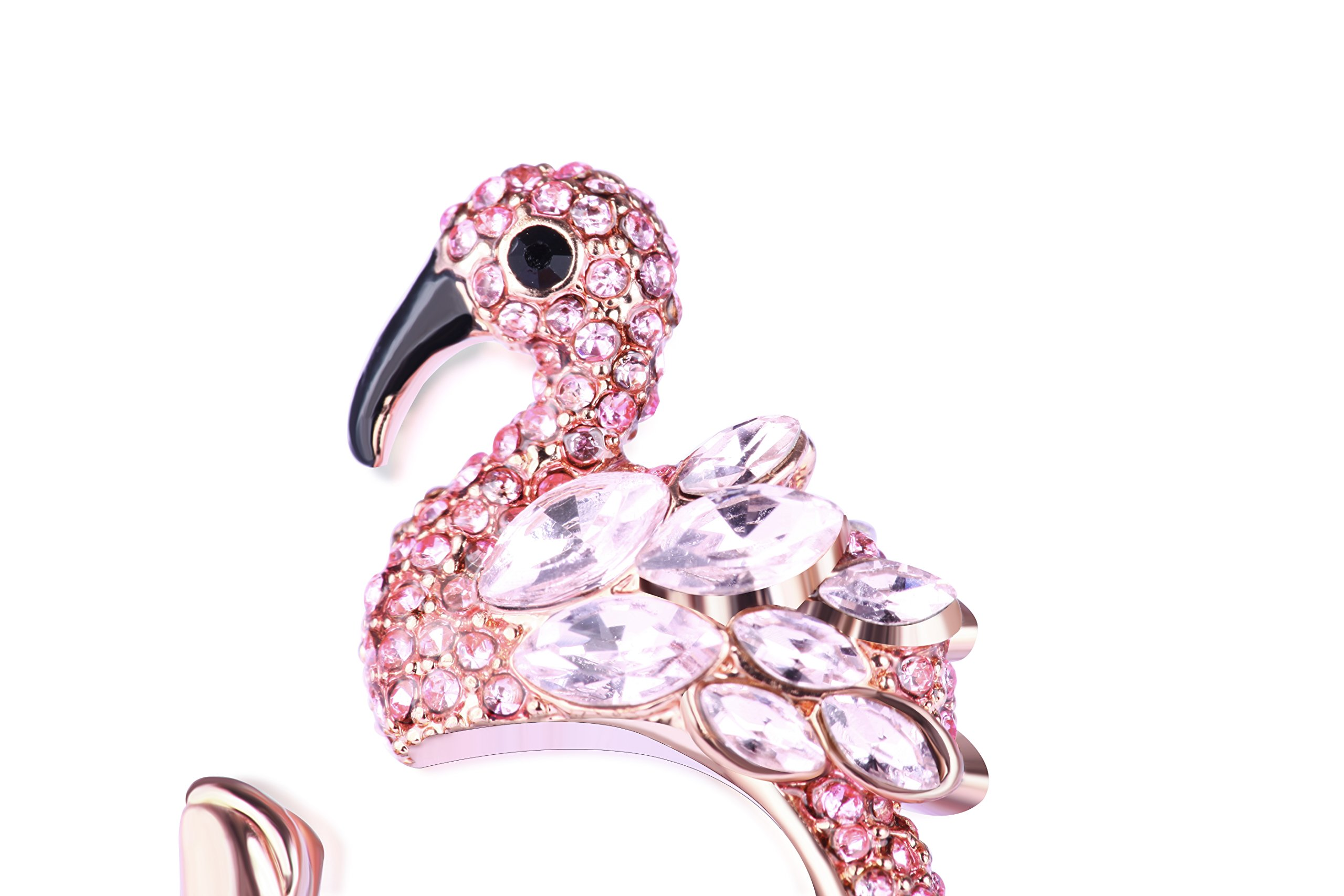 Animal Ring Cute Flamingo for Young Womens Gifts Mom Birthday Teens Girls Party Cuff Statement Ring (Pink) by Paitse (Image #3)