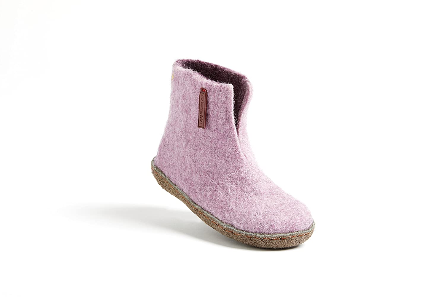 Fairtrade Many Colors Hide Rubber Sole betterfelt Unisex Felted Wool Slippers for Kids Classic Boot