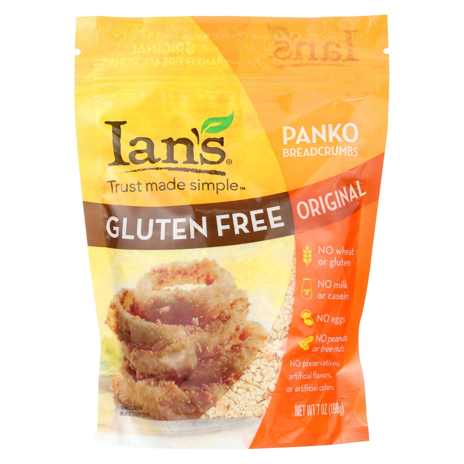 Ian's Panko Breadcrumbs - Gluten Free - Case of 8 - 7 oz.